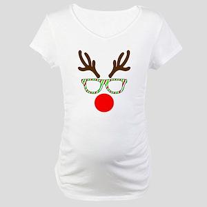 Hipster Reindeer Maternity T-Shirt