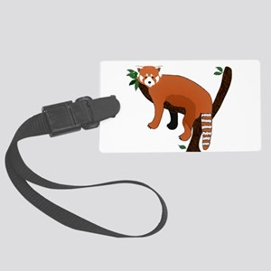 Red Panda Large Luggage Tag