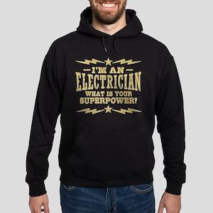 Funny Electrician Hoodie (dark)