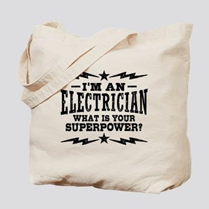 Funny Electrician Tote Bag