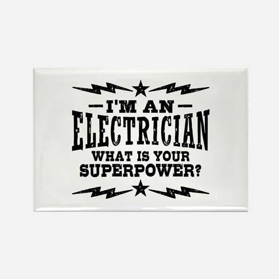 Funny Electrician Rectangle Magnet
