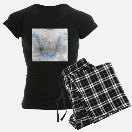 Messier Objects Star Chart Pajamas