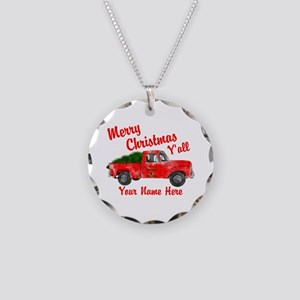 Merry Christmas Yall Necklace