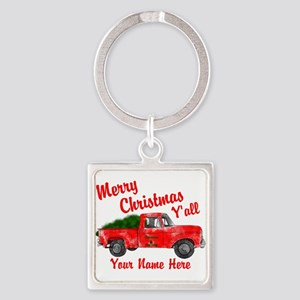 Merry Christmas Yall Keychains