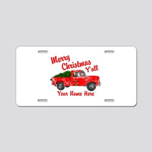 Merry Christmas Yall Aluminum License Plate
