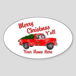 Merry Christmas Yall Sticker