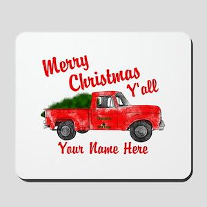 Merry Christmas Yall Mousepad