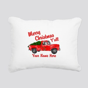 Merry Christmas Yall Rectangular Canvas Pillow