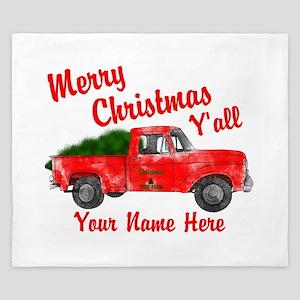 Merry Christmas Yall King Duvet