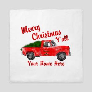 Merry Christmas Yall Queen Duvet