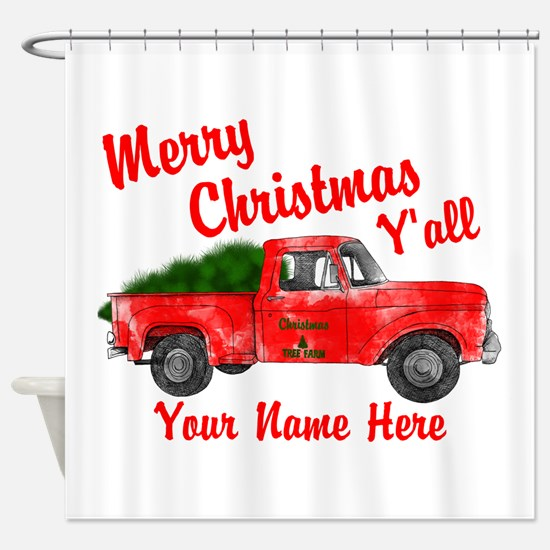 Merry Christmas Yall Shower Curtain