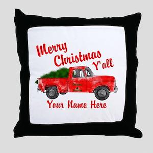 Merry Christmas Yall Throw Pillow