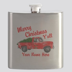 Merry Christmas Yall Flask