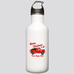 Merry Christmas Yall Water Bottle