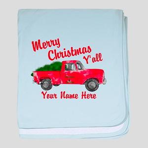 Merry Christmas Yall baby blanket