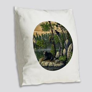 Best Seller Bear Burlap Throw Pillow