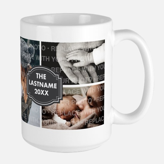 Replace Collage Photo Family Mugs