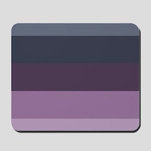 grey lavender purple stripes Mousepad