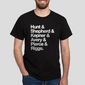 Grey's Character Last Names Dark T-Shirt