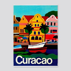 Curacao; Travel Vintage Poster 5'x7'area R