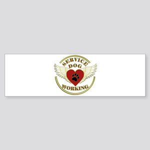 SERVICE DOG WORKING WINGS Bumper Sticker