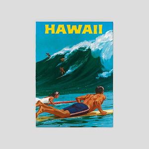 Hawaii, Travel Vintage Poster 5'x7'area Ru
