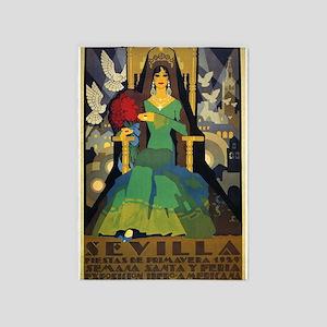 Sevilla, Spain Vintage Poster 5'x7'area Ru