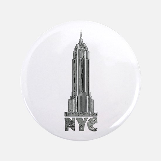 Empire State Building Chrome Button