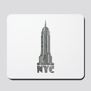 Empire State Building Chrome Mousepad