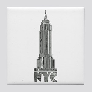 Empire State Building Chrome Tile Coaster