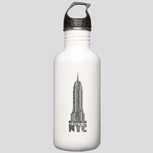 Empire State Building Chrome Water Bottle