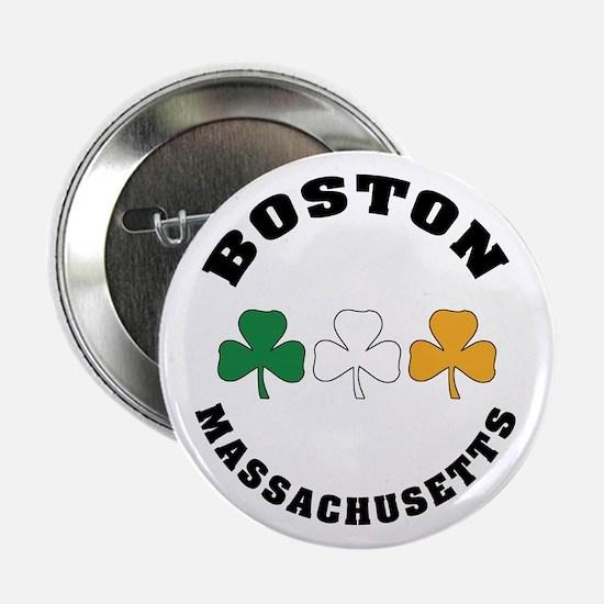 """Boston Irish Shamrocks 2.25"""" Button"""
