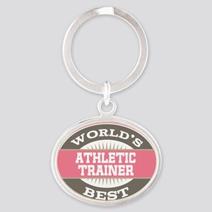 athletic trainer Oval Keychain