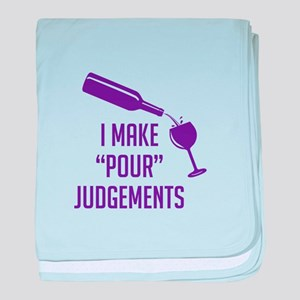 Make Pour Judgements baby blanket