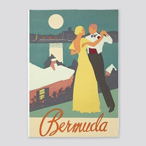 Bermuda, Dancing, Travel, Vintage 5'x7'are