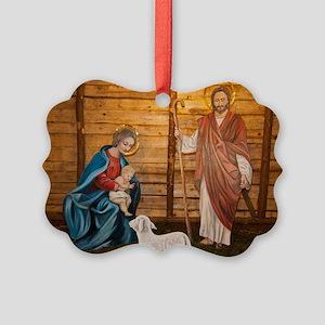 Nativity scene Picture Ornament