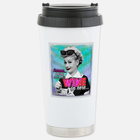 I Love Lucy: Wine Stainless Steel Travel Mug