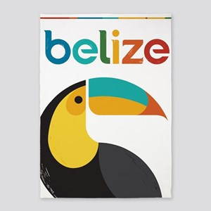 Belize Vintage Travel Poster With 5'x7'are