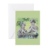 Lucy and ethel Greeting Cards