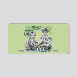 I Love Lucy: Old & Wacky Aluminum License Plate