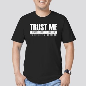 Grey's Trust Me Men's Fitted T-Shirt (dark)