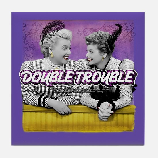 I Love Lucy: Double Trouble Tile Coaster