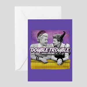 I Love Lucy: Double Trouble Greeting Card