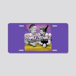 I Love Lucy: Double Trouble Aluminum License Plate