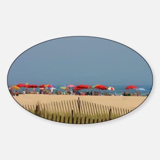 Cape May, NJ Beach Umbrellas Decal