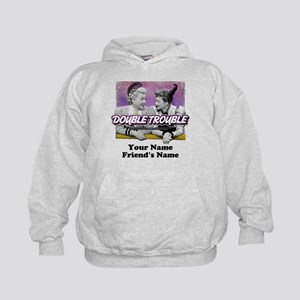 Double Trouble Personalized Kids Hoodie
