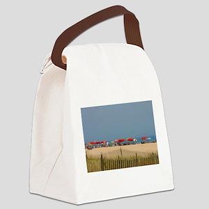 Cape May, NJ Beach Umbrellas Canvas Lunch Bag
