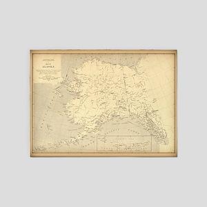 Alaska vintage map 5'x7'Area Rug