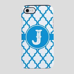 Blue Monogram: Letter J iPhone 8/7 Tough Case