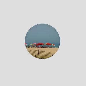 Cape May, NJ Beach Umbrellas Mini Button